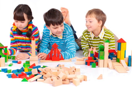 Kids playing with blocks - Pediatric Dentist in St. Louis, MO